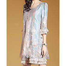 Señoras vestido de organza de primavera holgada faldas de moda,S
