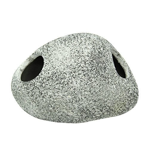 ECMQ Cichlid Stone Keramik Rock Höhle Aquarium Teich Ornament Shrimp Zucht (L)