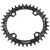 Oval Kettenblatt 36T fomtor Ultralight Single schmal Breite Kette Ring für die meisten Shimano und Sram-Kurbeln, Road Fahrrad BMX MTB (104BCD, schwarz)