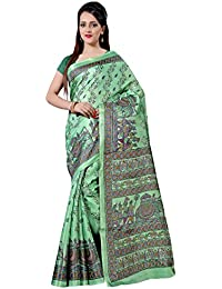 Applecreation Khadi Silk Saree (Mdb8405-B_Green)