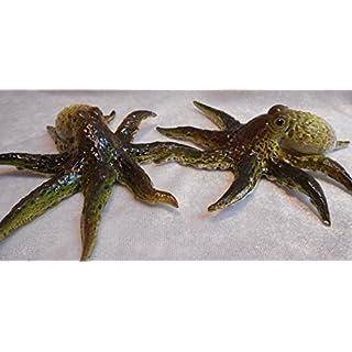 2er Set Krake 11 cm Oktopus Tintenfisch Afrika Tier Figur Deko Garten GG 0152