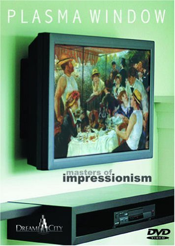 Plasma Window - Masters of Impressionism - Art DVD (Cezanne, Degas, Manet, Monet, Renoir, Van Gogh and more.) by Paul Cezanne -