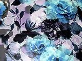 John Kaldor Floral Print Chiffon Kleid Stoff, Meterware,