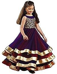 Silverwings Creation Girls' Dress (Girls_2_Blue_10-12 Year)