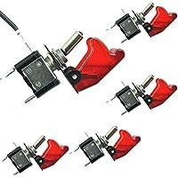 Mintice/™ 5 X KFZ Auto Boot Blau LED Licht Schalter SPST EIN//AUS Wippenschalter Kippschalter 3-polig 12V 20A Kohlefaser