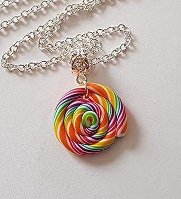 collier sucettes lolipop multicolore blanc bonbon cadeau enfant