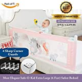 Safe-O-Kid One-Hand Operated, Washable, Foldable, Adjustable Height, Easy to Install, Large King Bed