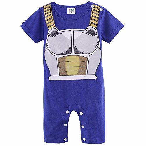 sibaway | ropa bebé Vegeta pijama Dragon | disfraz Dbz Vegeta | Body