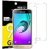 Pack de 2 Verre Trempé Samsung Galaxy J3, NEWC Film Protection en Verre trempé écran Protecteur vitre - ANTI RAYURES - SANS BULLES D'AIR -Ultra Résistant Dureté 9H Glass pour Galaxy J3