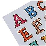 Isuper Alphabete Wandsticker, 26 Buchstaben Aufkleber für Kinderzimmer Leuchtende Selbstklebende Alphabete Wandtatoos