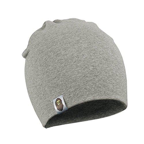 Newin Star Jersey-Mütze, Hut unisexo für Neugeborene Baby, 100% Baumwolle/Grau