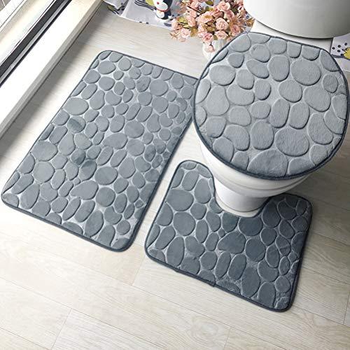 ele ELEOPTION traspiranti 2pezzi set tappetini da bagno antiscivolo supporto Memory Foam Tappeti bagno piacevole morbido acqua assorbente WC