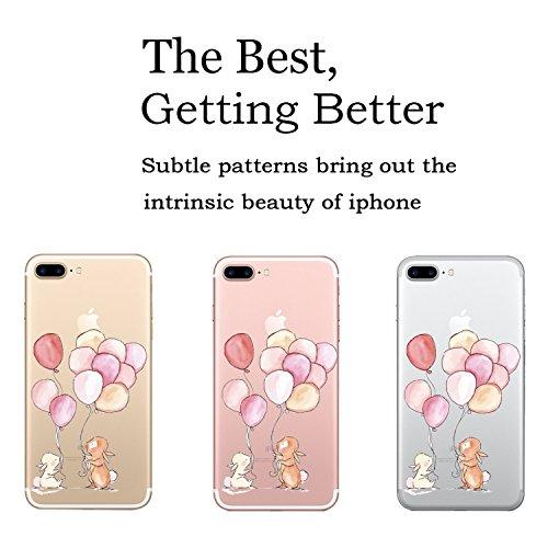 iPhone 7 Plus Hülle, JEPER iPhone 7 Plus Schutzhülle Transparente Kratzfeste Schutzhülle Crystal Clear Premium TPU Silikon Durchsichtige Handyhülle für Apple iPhone 7 plus Case Cover 07