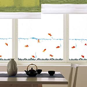 Decowall DS-08231 GoldFish Wall stickers/wall decals, Wall paper Home Art Deco Mural Point wall Sticker