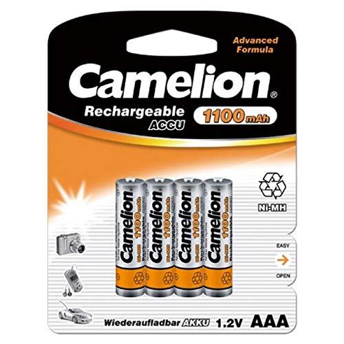 Camelion HR03 Micro AAA 1100mAh Lot de 4, 1,2V, NiMH [ Batterie rechargeables ]