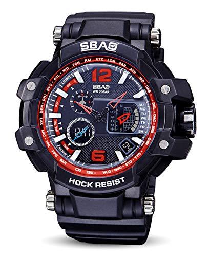 4c94ac6e140b SBAO - Estudiante Reloj de Cuarzo para Hombres Chicos Relojes Electrónicos  Impermeables Multifuncionales de Pantalla de
