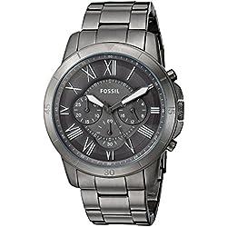 Fossil Chronograph Gunmetal Dial Men's Watch-FS5256