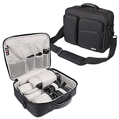 BUBM Professional Nylon Handbag for DJI MAVIC PRO, Travel Carrying Case/Shoulder Bag with Removable Shoulder Strap, Water-resistant and Lightweight, Easy to Carry, Black