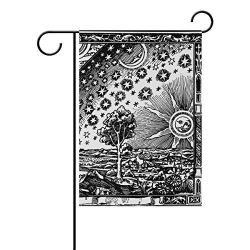 Polyester-bennigiry Rand der Welt-Garten Flagge, wetterfest Flaggen für Jahr rund Outdoor Display doppelseitig Welcome Hartschale 30,5x 45,7cm, Gesponnenes Polyester, mehrfarbig,...