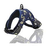 Balock Schuhe Pet Brustgeschirr,Verstellbare Hundeleine Bedruckt atmungsaktives Brustgurtband,für Kleine Mittelgroße Hunde (Marine, M)