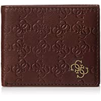 Guess Mens Wallet with Coin Holder, Brown - 31GUE13163