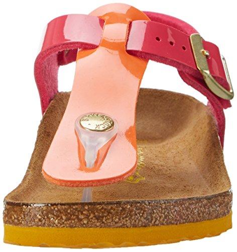 Birkenstock Kairo, Bride cheville fille Mehrfarbig (Tropical Orange Pink)