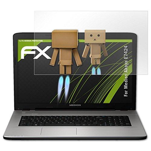 atFolix Bildschirmfolie für Medion Akoya E7424 Spiegelfolie, Spiegeleffekt FX Schutzfolie