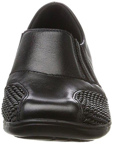 Damen Slipper schwarz Halbschuhe 1 schwarz 941546 Comfortabel 8qdw0Bd