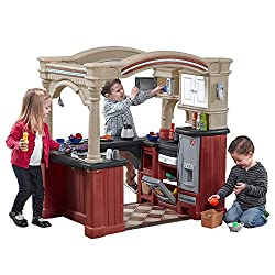 Step 2 Step2 Grand Walk-In-Kitchen Tan/Maroon/Black Playset