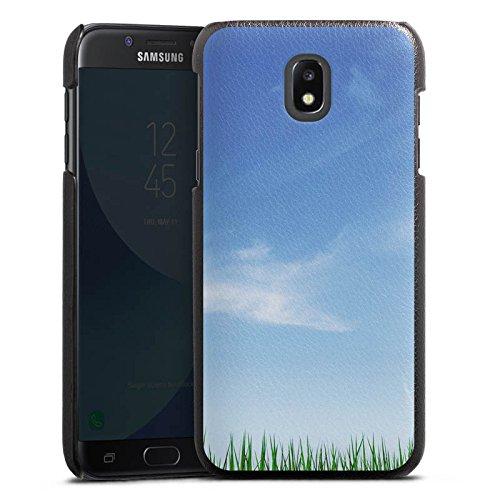 Samsung Galaxy J5 2017 Lederhülle schwarz Leder Case Leder Handyhülle Wiese Horizont Gras