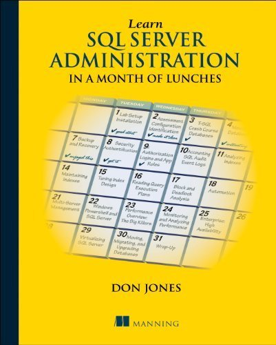 Learn SQL Server Administration in a Month of Lunches: Covers Microsoft SQL Server 2005-2014 by Jones, Don (2014) Paperback