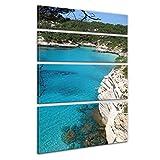 Bilderdepot24 Bastidor lienzo'Menorca' - 120x180 cm 4 piezas - Enmarcado listo Bastidor imagen. directamente desde el fabricante