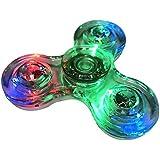 Hand Spinner Fidget Spielzeug, Minkle mit Crystal LED Light Flash Stress Reducer Perfekt f???r ADD, ADHS, Angst und Autismus Adult Kinder Spielzeug Geschenk