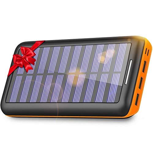 KEDRON Powerbank, 24000mAh Externer Akku mit 2 Input und 3 Output Solar Power Bank für Das Tablette, Android/IOS Phone und andere Smartphones/Handys