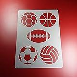 Schablone Ballsport Ball 5 Bälle - BA79