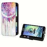 deinPhone Samsung Galaxy S5 Mini Kunstleder Flip Case Buntes Mandala Aquarell