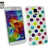 Emartbuy® Samsung Galaxy S5 Polka Dots Gel Hülle Schutzhülle Case Cover Mehrfarbig