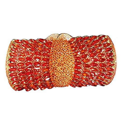 Frauen-Diamant-Dinner-Party Tasche High-End-Luxus-Handtasche Red