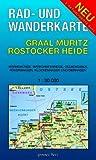 Rad- und Wanderkarte Graal-Müritz, Rostocker Heide: Mit Warnemünde, Markgrafenheide, Gelbensande, Rövershagen, Klockenhagen, Dierhagen. Maßstab 1:30.000.