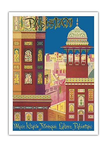 pakistan-mosquee-de-wazir-khan-lahore-au-pakistan-architecture-musulmane-vintage-world-travel-poster