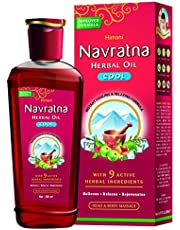 Navratna Ayurvedic cool hair oil with 9 herbal ingredients
