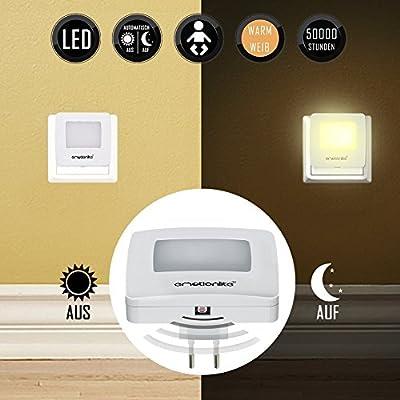 Emotionlite 2 Stück LED Nachtlicht mit Dämmerungssensor Kinder Nachtlicht Sehr gut für Kinderschlafzimmer Badezimmer Flur Treppenaufgang Korridor Schrank oder ein dunkles Zimmer Warmes weißes 2700 K von Emotionlite