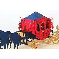 3D Pop-up Tarjeta de Felicitación Invitación Papel para Aniversario San Valentín Cumpleaños Carro
