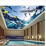 Pbldb Unterwasserwelt Marine Benutzerdefinierte Foto 3D Decke Wandbilder Tapete Wohnkultur Eine Vielzahl Von Meereslebewesen Malerei 3D Wandbilder Tapete Für Wohnzimmer-200X140Cm