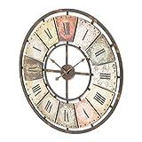 Wanduhr mit römischen Ziffern antikes Ziffernblatt analog
