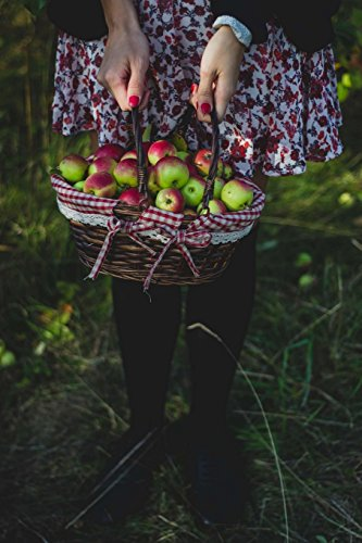 a-girl-holding-a-basket-of-windfall-apples-harvest-time-journal-150-page-lined-notebook-diary