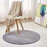 Morbuy Tapis Rond Lavable en Machine 100 cm Polaire de Corail Interieur Anti Slip...