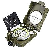 TCpick Compas Professionnel De Haute Précision, Fluorescent Étanche avec Inclinomètre Pouvant Mesurer Un Compas Multifonctions en Pente