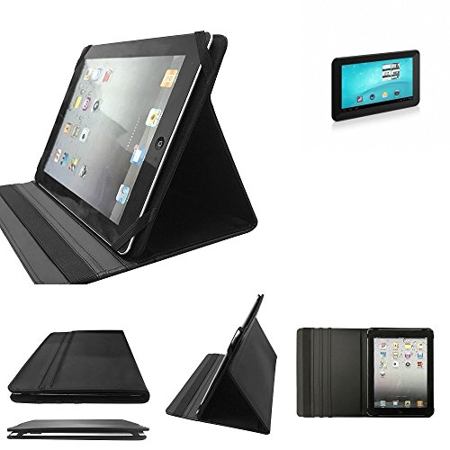 K-S-Trade TrekStor SurfTab Breeze 7.0 Schutz Hülle Business Case Tablet Schutzhülle Flip Cover Ultra Slim Bookstyle Tasche für TrekStor SurfTab Breeze 7.0, schwarz. Kunstleder Qualitä