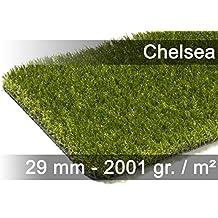 Luxus Kunstrasen Rasenteppich Chelsea Grün in 19 Größen